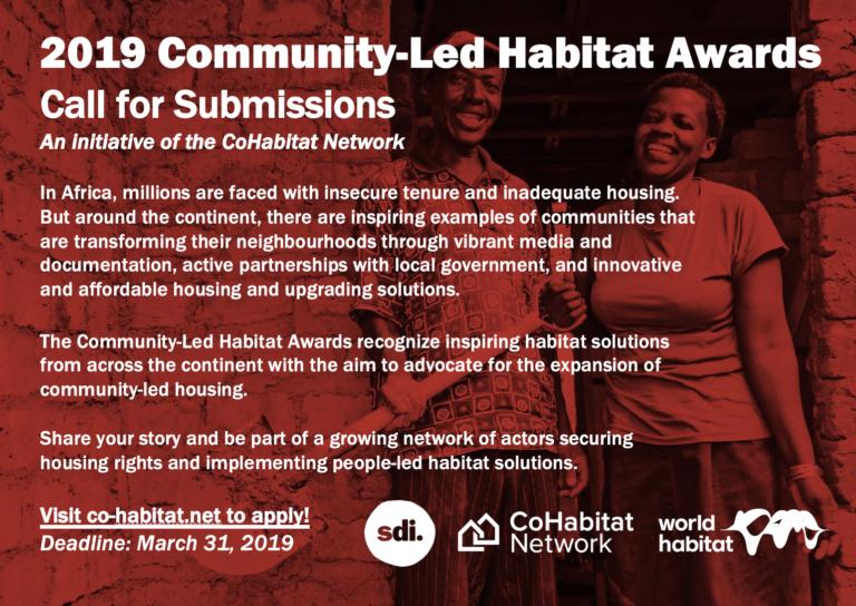 2019 CoHabitat Network Community-Led Habitat Award for Africa