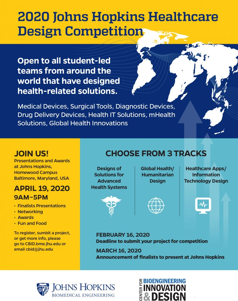 2019 Johns Hopkins Healthcare Design Competition Oppourtunities Forum